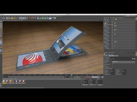 How to make 3d Book in Cinema 4D Tutorials (Easy Method)
