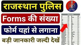 राजस्थान पुलिस -2020 Forms की संख्या- यहां से लगाना है फॉर्म || Rajasthan Police Form kaha se bhare