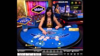 Dealer Kristina: Vegas Blackjack Table