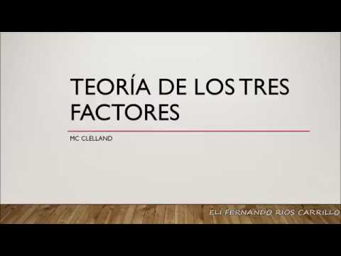 Teoría De Los Tres Factores Mc Clelland Teoría