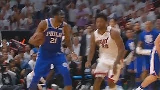 Joel Embiid SHUTS UP JUSTISE WINSLOW FOR TRASH TALKING & TAUNTING HIM! Sixers vs Heat thumbnail