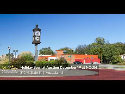 AUCTION - 10,000+ Sq Ft Holiday Bowl in Augusta, KS