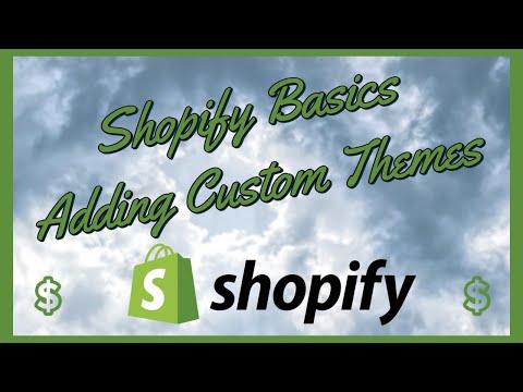 Shopify Tutorial 2021 - Navigation and Adding a Custom Theme