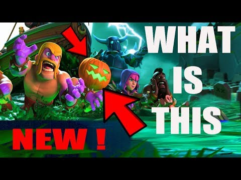 (HINDI) Halloween Update 2017 IN COC new Pumpkin Barbarian & Giant Skeleton
