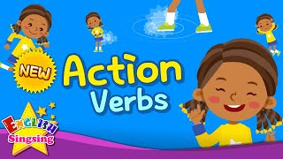 Kids vocabulary -  [NEW] Action Verbs  - Action Words - Learn English for kids