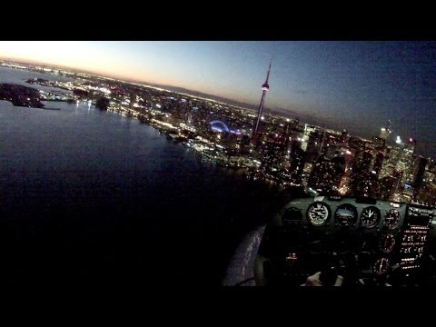 Night Landings - ATC audio - POV Flying - Cessna 172SP - FULL flight!