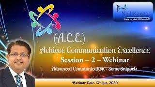 Achieve Communication Excellence Webinar 2 Part 1