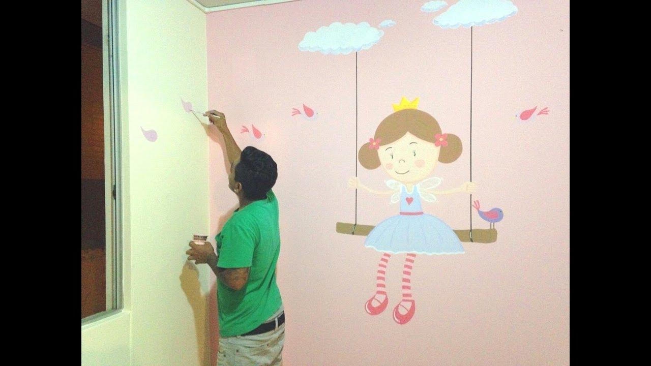 murales infantiles como pintar y decorar habitacion de On murales infantiles nina