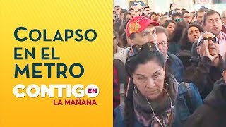 Santiaguinos manifestaron su molestia por nuevo colapso en Metro de Santiago - Contigo en La Mañana