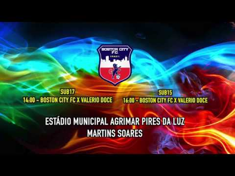 Chamada jogo dia 21 de Abril - Boston City FC x Valerio Doce