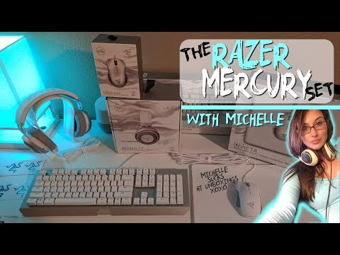 NEW Razer Mercury Set Unboxing Review! White Gaming Keyboard, Mouse, Headset, Mousepad Chroma/RGB