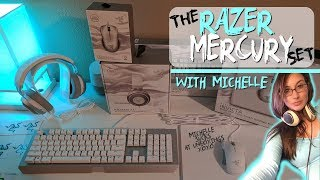NEW Razer Mercury Set Unboxing Review! White Gaming Keyboard, Mouse, Headset, Mousepad Chroma/RGB