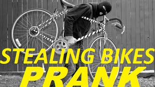 Stealing Bikes in the Hood Prank by THESE WHITE KIDS | @BBtheJerk7