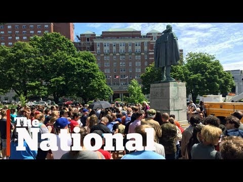 Protesters demand removal of Cornwallis statue in Halifax