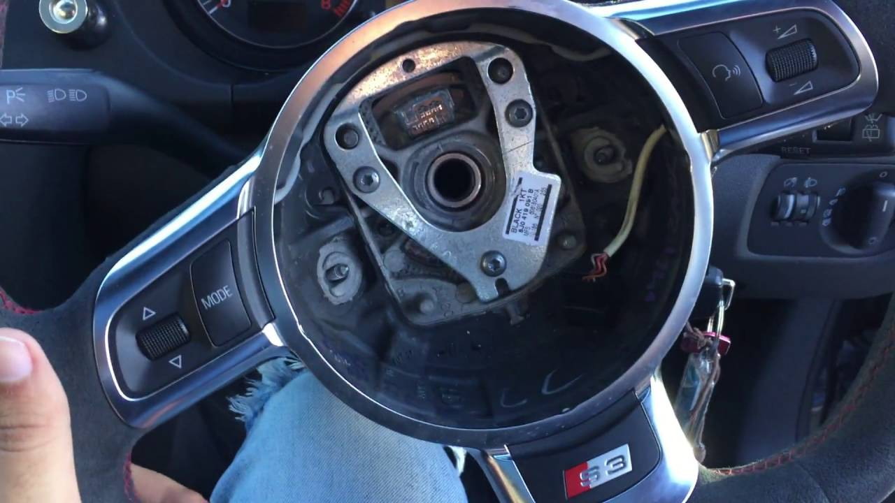 Audi A3s3 Steering Wheel Removal And Replacement Youtube