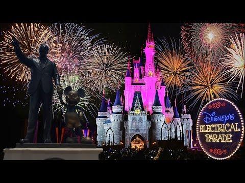 Disney's Electrical Parade, Fireworks and Princess Castle light show 2016