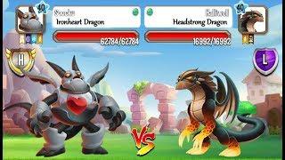 Dragon City - Headstrong Dragon vs Iron Heart Dragon | Exclusive Combo Pack 2017
