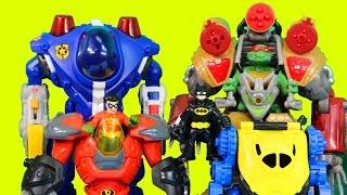 Imaginext Robot Wars Episode 5 Batman TMNT Bane Robin Lex Luthor Shredder Cyborg Robots