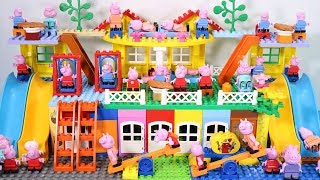 Peppa Pig Lego House Creations With Water Slide Toys For Kids #12