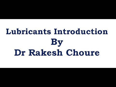 LUBRICANTS INTRODUCTION