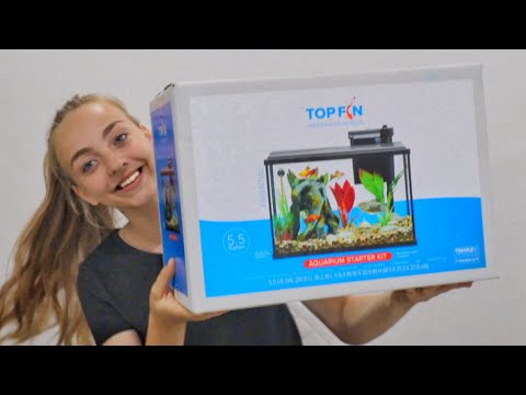 Top Fin 5.5 Gallon Aquarium Unboxing | UPGRADING My BETTA FISH TANK! |Julia & Olga|