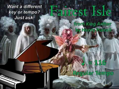 Fairest Isle by Purcell Piano Accompaniment