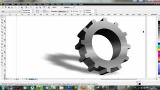 Como criar uma engrenagem com efeito 3D no CorelDRAW!