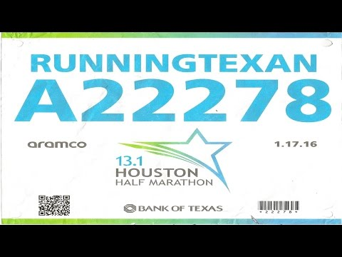 2016 Aramco Houston Half Marathon [HM] - Running Texan