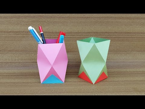 DIY Homemade Pen Stand | How to Make a Paper Pen Holder Easy | Paper Pencil Holder