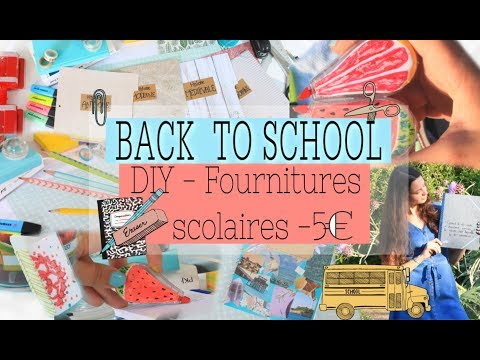 DIY BACK TO SCHOOL SUPPLIES - 5€ !