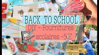 DIY BACK TO SCHOOL SUPPLIES  5…