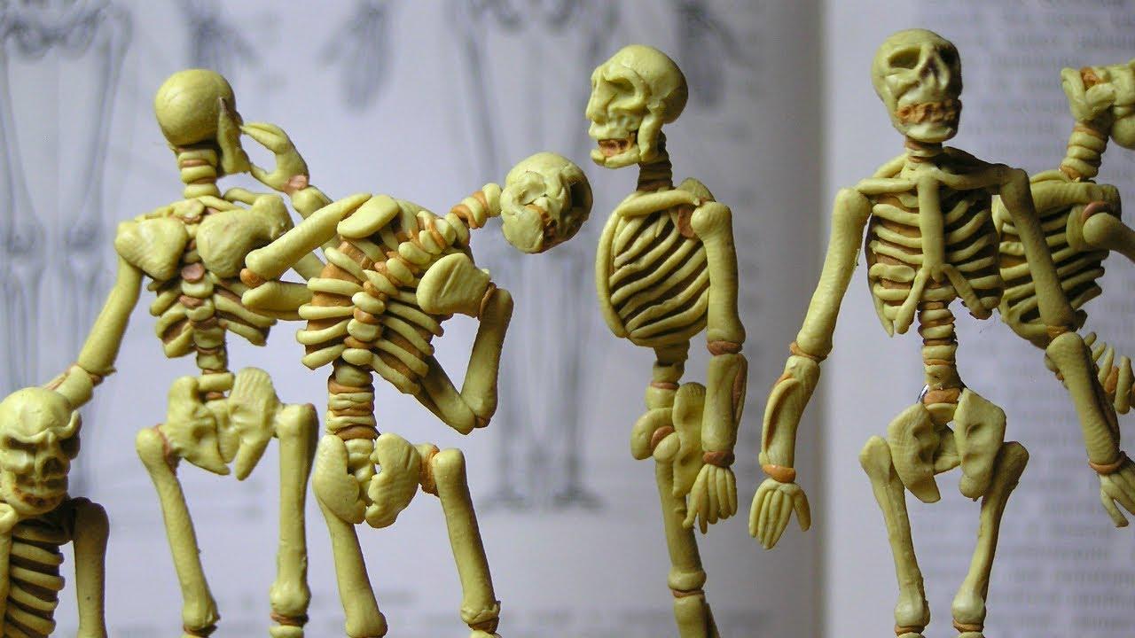 Skeleton of modeling clay - YouTube
