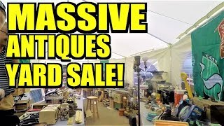 Ep200: THIS GARAGE SALE IS ABSOLUTELY LOADED WITH ANTIQUES!!!