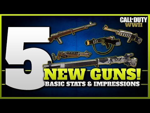 5 New Guns Added! | Basic Stats & Impressions (ITRA Burst, M2 Carbine, Type 5, Sterling, Type 38)