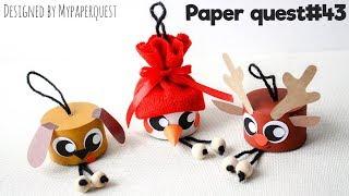 Новогодние поделки из втулок | Christmas Recycling Craft ideas for Kids | DIY Toilet paper rolls