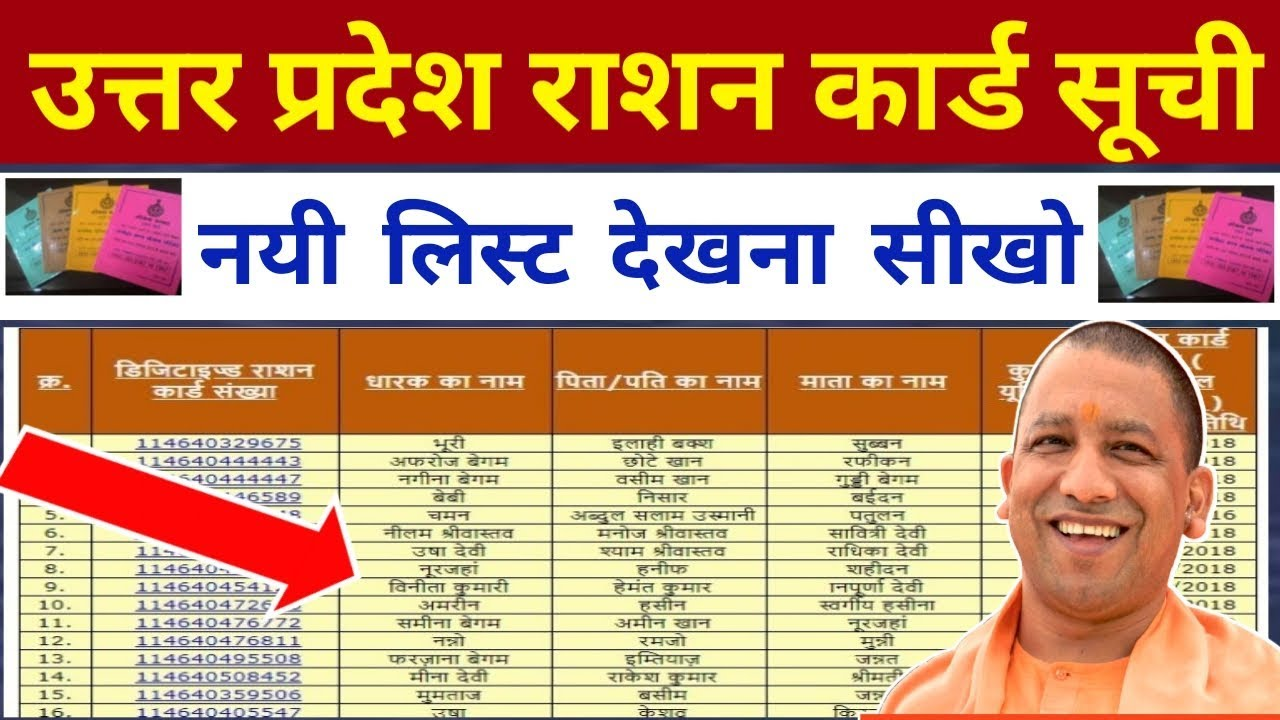 up new ration card list 201920  how to check up new