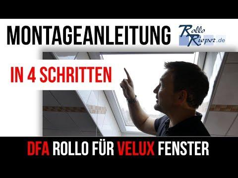 beste Schuhe neueste art bester Platz DFA Rollo für VELUX Dachfenster - Montage & Funktion von Rollo Rieper