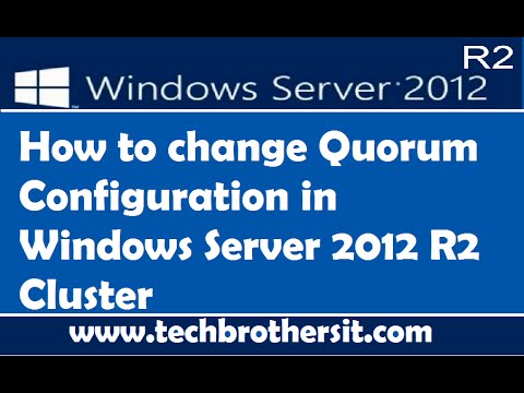 How To Change Quorum Configuration In Windows Server 2012 R2 Cluster
