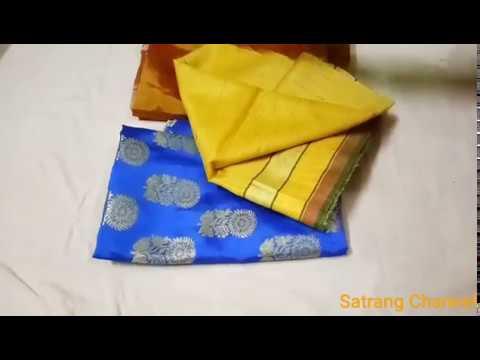 how to convert old saree into designer saree