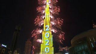 New Year& 39 s 2020 Burj Khalifa FireWorks Eve 2020 Celebrations in World tallest Buliding