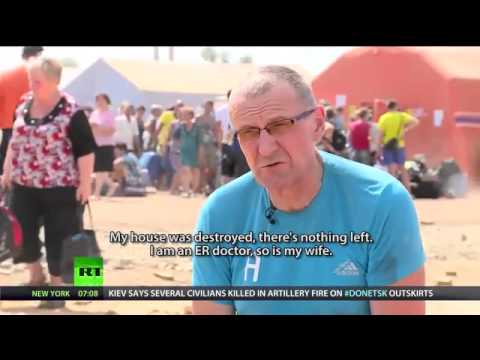 'They destroyed everything'  Refugees from E  Ukraine flood Russia