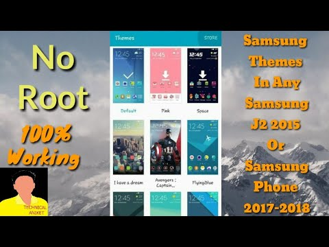 How To Add Custom Themes In Samsung Galaxy J2 2015 Without Root-Part 1