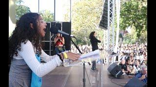 Rebeca Sabnam - CafCu Youth Advocate speaks at Climate Strike NYC 9/20/19