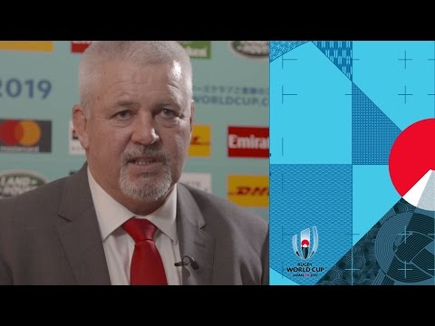 Wales coach Warren Gatland reacts to Rugby World Cup draw