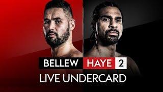 LIVE UNDERCARD! Kody Davies vs Przemyslaw Gorgon and Luke Campbell vs Troy James | Haye vs Bellew