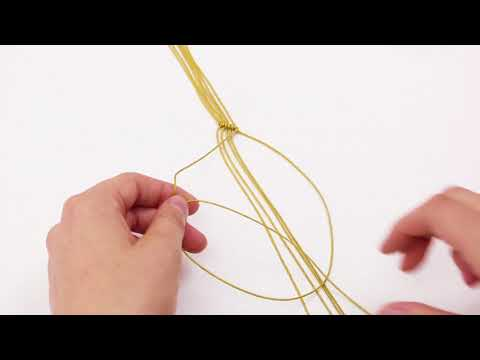 Handmade jewellery: 'Half hitch' macramé bracelet ♡ DIY