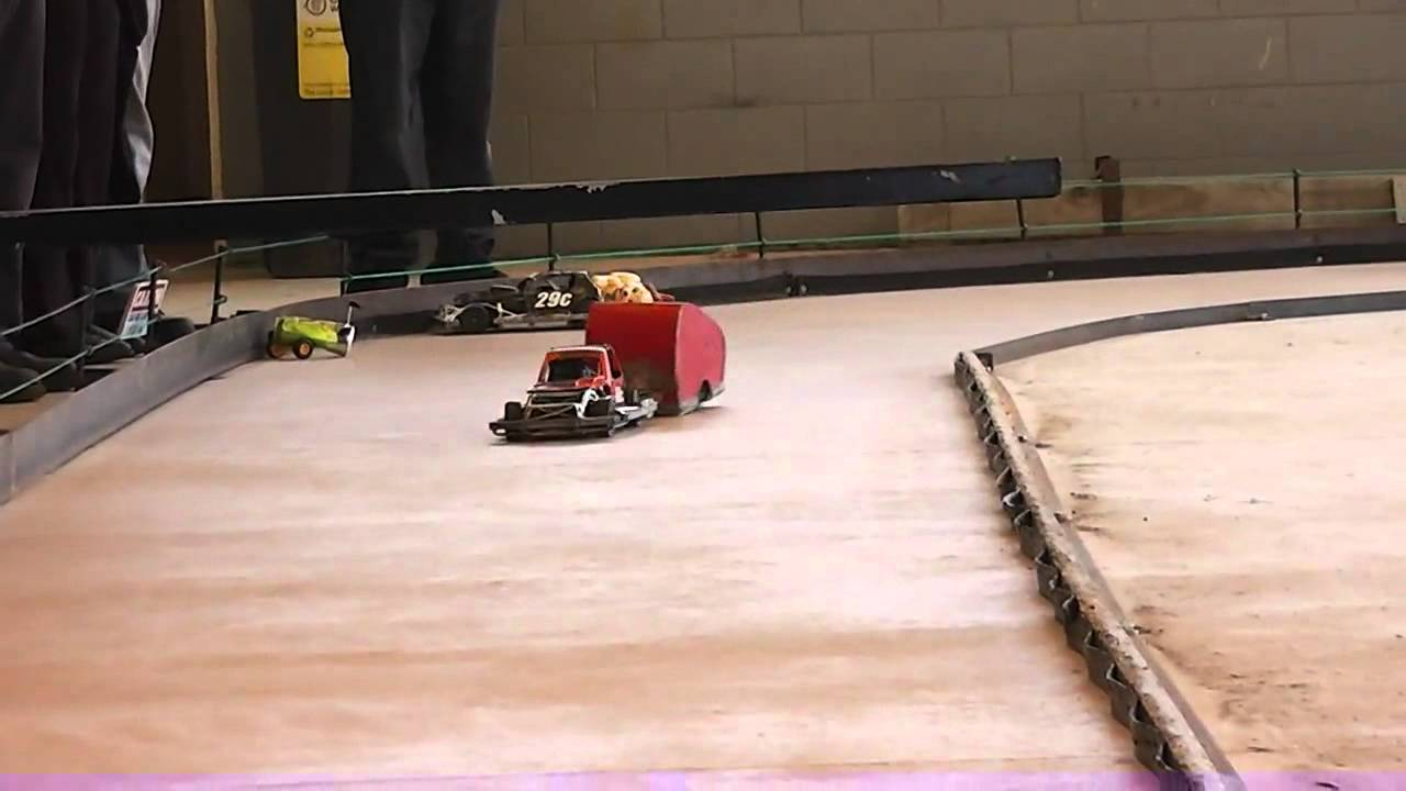 Rc Car Racing >> RC Stockcar Trailer Race. 5 minute feature race - last man standing. - YouTube