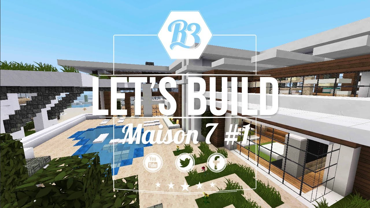 Minecraft Let\'s build - Maison Moderne 6 #1 - R3li3nt