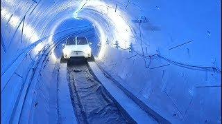 Elon Musk shows off high-speed tunnel beneath Los Angeles