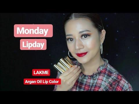 lakme-argan-oil-lip-color-swatches-||-monday-lipday